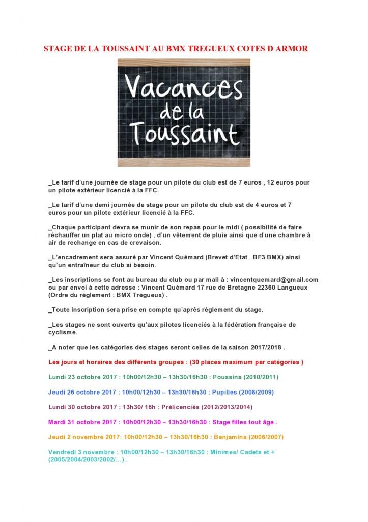 STAGE DE LA TOUSSAINT AU BMX TREGUEUX COTES D ARMOR-page0001